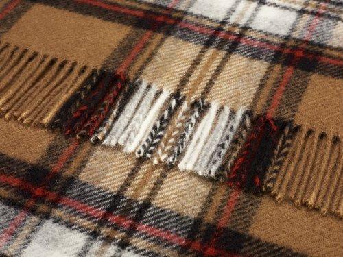 Camel Stewart Tartán Lana rodilla alfombra manta–British Made b