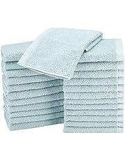 AmazonBasics Cotton Washcloth/Face Towel - Pack of 24, Ice Blue