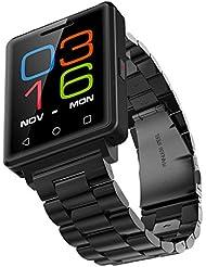 Reloj Deportivo Digital Hombre / Smartwatch Running Smartwatch Sim - Reloj Deportivo Con Pulsómetro Sports & Reproducción De Vídeo MP4 Cámara Remota Bluetooth ( Negro ) / MUJG7