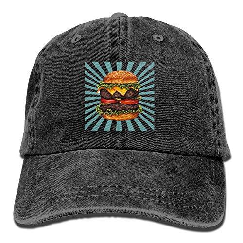x Baseball Cap Ball Hat Double Cheeseburger ()