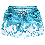 O-C Womens'beach shorts summer beach pants Large