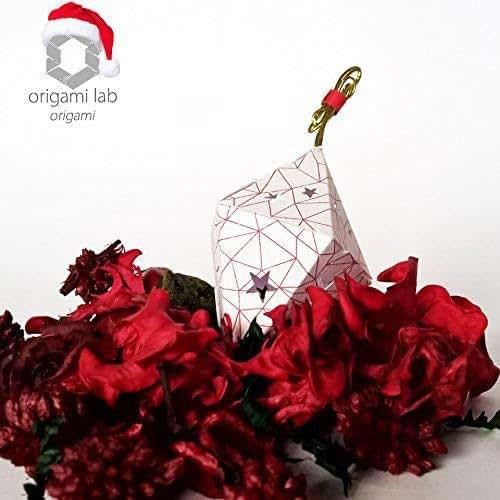 Profumatore origami di carta - potpourri ecologico e naturale - decorazione Natale (appendibile con laccetto) - fatto a mano - colore bianco/rosso