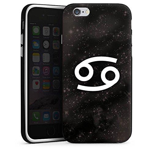 Apple iPhone 4 Housse Étui Silicone Coque Protection Signes du zodiaque Crabe Astrologie Housse en silicone noir / blanc