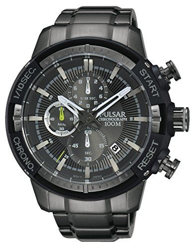 Pulsar Men's Chronograph Quartz Watch with Stainless Steel Plated Bracelet – PM3049X1