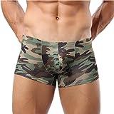 URSING Militär Herren Tarnung Gedruckt Boxershorts Trunks Stämme Unterwäsche Atmungsaktive Unterhose Sexy Unterhose Mode Boxer Slips Shorts Hose Underpant (M, Tarnung)