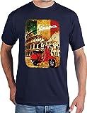 adrotes® Vespa Roadtrip - Vintage T-Shirt - Gr. S-5XL (L, Navy)