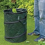 Large Pop Up Garden Tidy Leaves Grass Hedge Waste Cuttings Bin Bag Sack With Carry Handles