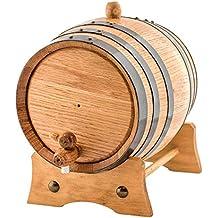 Barril de Madera de Roble Artesanal para añejamiento de licores y Vino (2 litros)