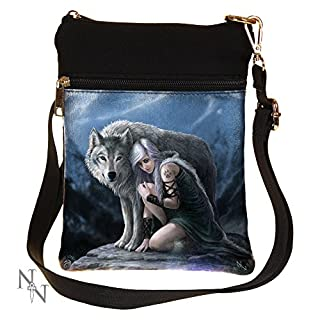 Gothic Fantasy Protector Wolf Shoulder Bag by Anne Stokes