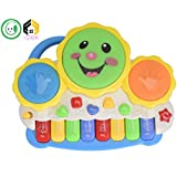 Aarushi Musical Keyboard Drums Set For Babies Educational Game (Multicolor)