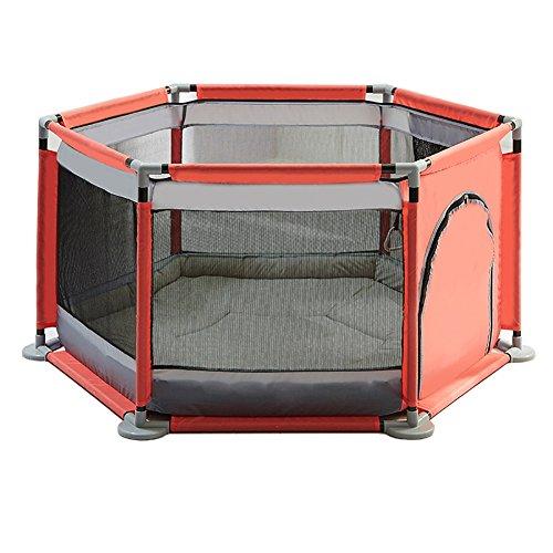 Tama/ño : 120/×120cm Patio Infantil Para Beb/és Parques Infantiles Gris Patio Cerco De Seguridad Para El Hogar Ensamblado Port/átil De La Casa