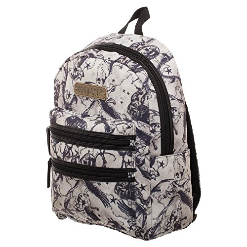 BIOWORLD MERCHANDISING Sac à DOS Double Zip officiel Harry Potter - Beasts Rucksack, 43 cm, Weiß (Blanc)