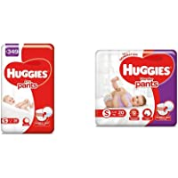 Huggies Dry Pants, Small Diapers, 36 Count & Huggies Wonder Pants, Small Diapers, 20 Count
