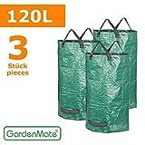 GardenMate® 3x Set Gartensack 120l aus robustem Polypropylen-Gewebe  150gsm