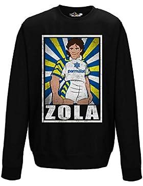 Felpa Girocollo Calcio Vintage Zola Parma Legend Parodia Holly e Benji Grunge
