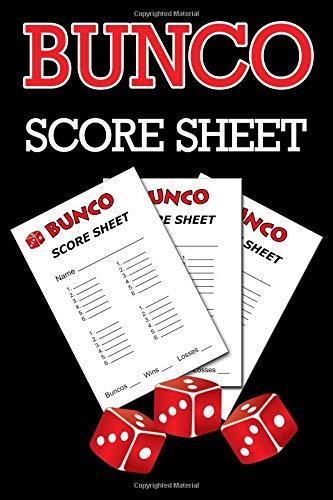 Bunco Score Sheets: 100 Score Keeping for Bunco Game Lovers, Bunco Score Cards, Bunco Party Supplies