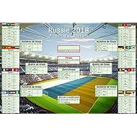 Calendrier de la Coupe du Monde 2018 en Russie dans la taille de l'affiche Maxi 91,5x61 cm