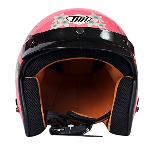 THH Open face Helmet (Pink, M)  available at amazon for Rs.1449