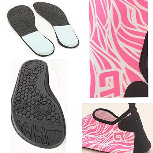 ALSYIQI Barefoot Shoes Men Women Quick-Dry Water Shoes Lightweight Aqua Socks For Beach Pool Surf Yoga Exercise 2 Pink