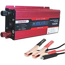 SAILFLO Vehículo inversor de corriente de coche convertidor DC 12 V a AC 220 V adaptador