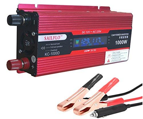 SAILFLO Fahrzeug 1000 W Car Power Inverter Konverter DC 12 V zu AC 220 V USB Adapter tragbar Spannung Trafo KFZ Ladegeräte (Kabel Für Power Inverter)
