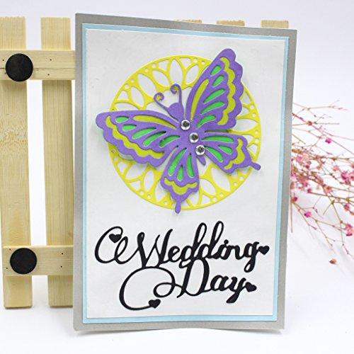 Lifet – Fustelle a Forma di Farfalla, per Scrapbooking, Album di Carta, Cartoline Artigianali, per Sizzix Big Shot/Cuttlebug/e Altre Macchine da Disegno - 2