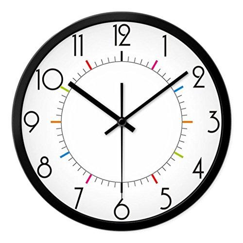 Une horloge murale de style européen muet salon antique rétro horloge murale horloge de chambre (Couleur : 1#, taille : 35cm)