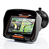 Excelvan 8GB Fino a 32 GB Navigatore GPS Bici Moto Impermeabile IPX7 4.3 Inch Touch Schermo Bluetooth vince CE6.0(Arancia)