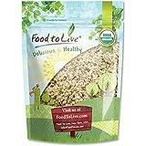 Semillas de cáñamo orgánico canadiense de alimentos para vivir (corazones crudos, pelados, no transgénicos, a granel) — 453 gramos