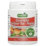 Guarana - Grüner Tee - Nopal - 570mg - 200 Tabletten