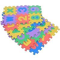 Alfombrilla cuadrada de espuma suave de EVA para bebé, niños y niñas, 72 unidades, números 0 – 9 y letras A – Z - Peluches y Puzzles precios baratos