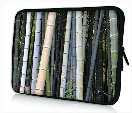 Luxburg® Design Laptoptasche Notebooktasche Sleeve für 14,2 Zoll, Motiv: Bambus