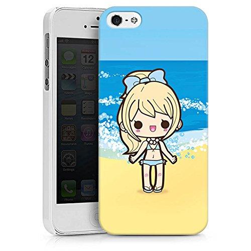 Apple iPhone X Silikon Hülle Case Schutzhülle Strand Kawaii Manga Hard Case weiß