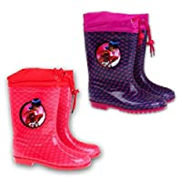Miraculous Ladybug Wellies/Snow Boots With Fabric Toggle Tie Tops
