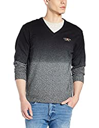 US Polo Association Mens Cotton Sweater (8907259206950_USSW0562_Black_XL)
