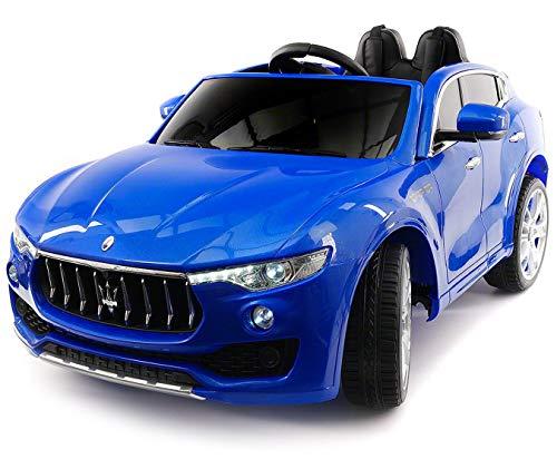 giordano shop Macchina Elettrica per Bambini 2 Posti 12V Maserati Levante Blu