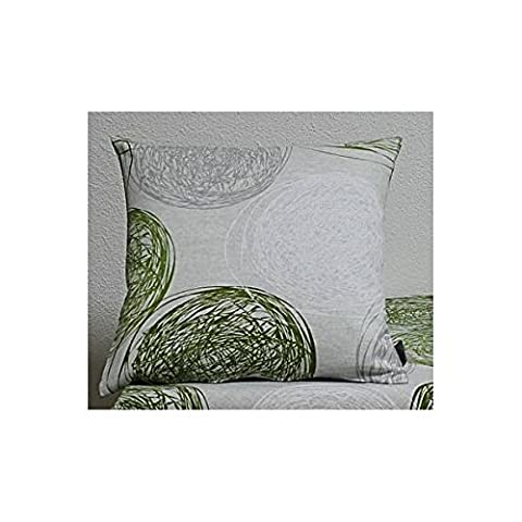 Kissenhülle, Kissenbezug FUNCHAL KREISE 40x40cm grün grau weiß Hossner
