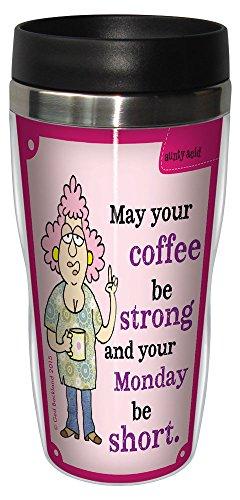 'Aunty Acid taza de viaje, con forro inoxidable vaso de café, 16-ounce fuerte café sg78432, divertido regalo para compañeros de trabajo de oficina, Tree-Free Greetings