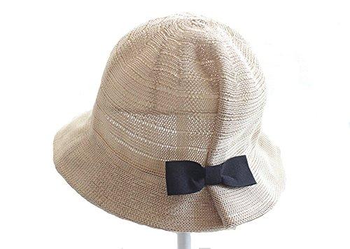 Fletion Baby Mädchen Fischerhut Fischermütze Schlapphut Sommer Sonnenhut UV Schutz Kappe Kinder Braided Strohhut Sun Hut