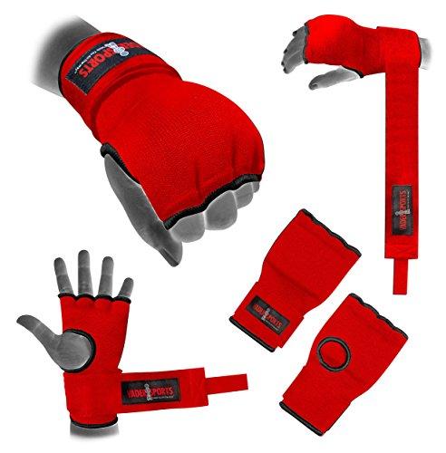 Mano Wrap rojo acolchado interior boxeo guantes boxeo