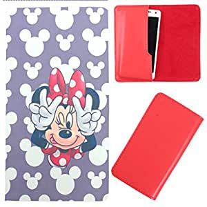 DooDa - For Lava iris 458Q PU Leather Designer Fashionable Fancy Case Cover Pouch With Smooth Inner Velvet