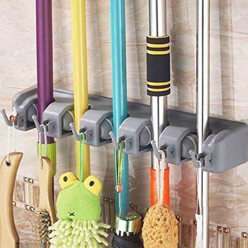 JOYOOO scope mop lavapavimenti a parete Rastrelliera per attrezzi da giardino