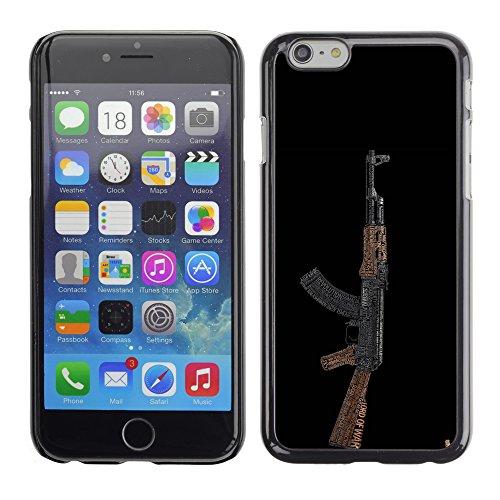 Graphic4You Schwarz Desert Eagle Pistole Feuerwaffe Design Harte Hülle Case Tasche Schutzhülle für Apple iPhone 6 / 6S Design #4
