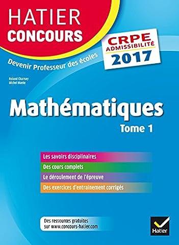Method Mathematiques - Hatier Concours CRPE 2017 - Epreuve écrite
