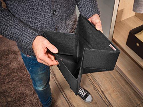 Leifheit 80009 Caja Grande, Tela, Negro, 19 x 27.5 x 27.5 cm
