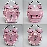 Pink Classic Bell Analog Alarm Clock (Sh...