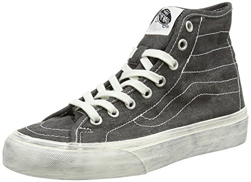Vans  U SK8-HI DECON, Sneakers Basses mixte adulte Noir - Black (Overwashed - Black)
