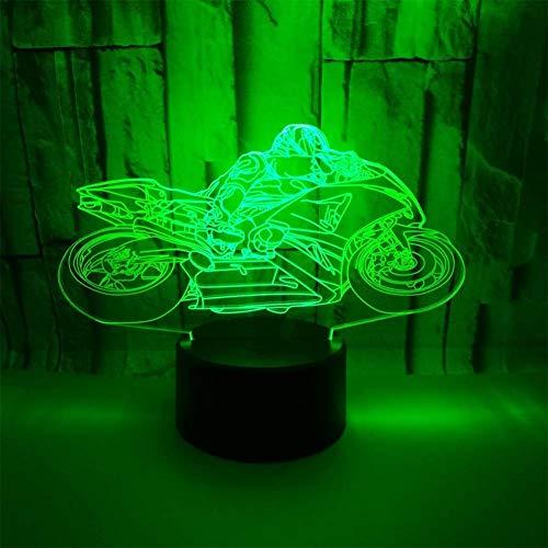 3D motorrad Nachtlampe 7 Farben ändern Touch Control LED Schreibtisch Tisch Nachtlicht mit bunten USB Powered für Kinder Kinder Familie Ferienhaus Dekoration Valentinstag Geschenk
