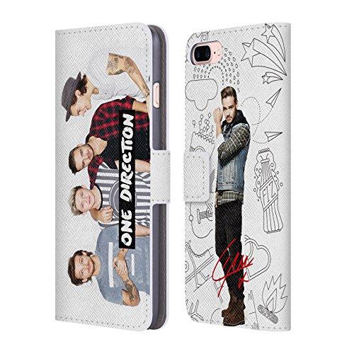 Offizielle One Direction Harry Im Voll Gruppenbild Solo Brieftasche Handyhülle aus Leder für Apple iPhone 5 / 5s / SE Harry Im Voll