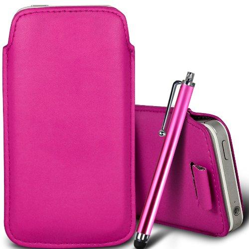 Brun/Brown - ZTE Kis 3 Max , ZTE Blade G Lux Housse deuxième peau et étui de protection en cuir PU de qualité supérieure à cordon avec stylet tactile par Gadget Giant® Rose/Pink & Stylus Pen